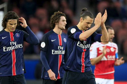 Ibrahimovic tiếp tục là đầu tàu cho PSG. Ảnh: Reuters.