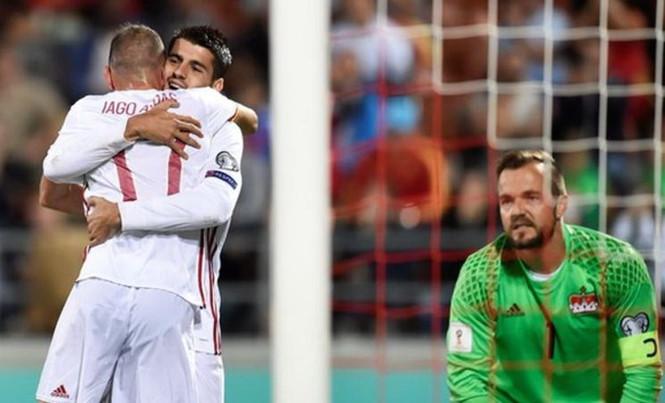 Tây Ban Nha thắng đậm Liechtenstein dành vé tới VCK World Cup 2018