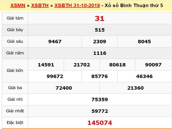 Dự đoán XSBTH 7/11/2019 - Soi cầu Xổ Số Bình Thuận thứ 5