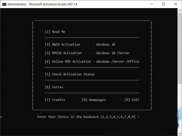 Script Active windows 10, windows 7 bản quyền vĩnh viễn