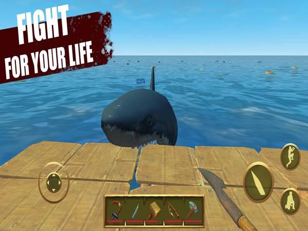 Game sinh tồn trên biển Last Day on Raft: Ocean Survival