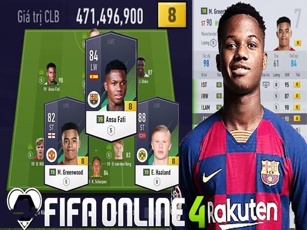 Đội hình trẻ fo4 hay nhất - Cầu thủ trẻ Fifa Online 4