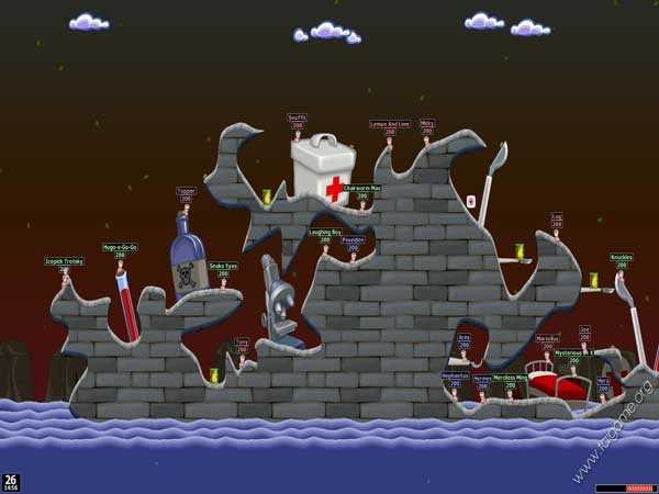 Worms - một trong những game offline 9x hay nhất